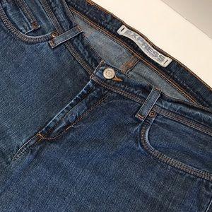Express hipster flare dark wash jeans